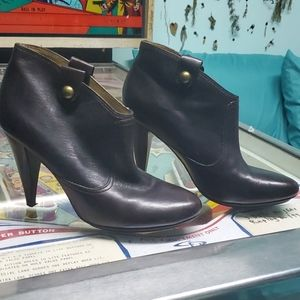 Coach brown leather booties